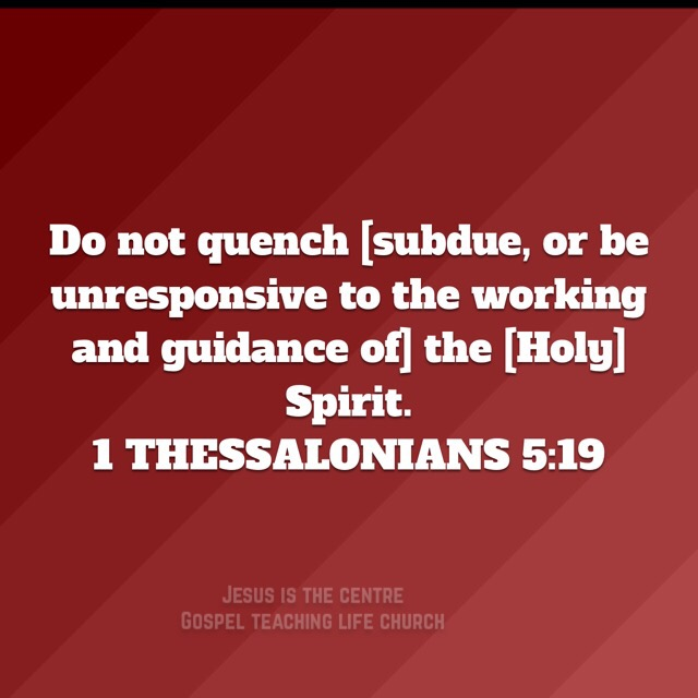 Image result for 1 THESSALONIANS 5:19