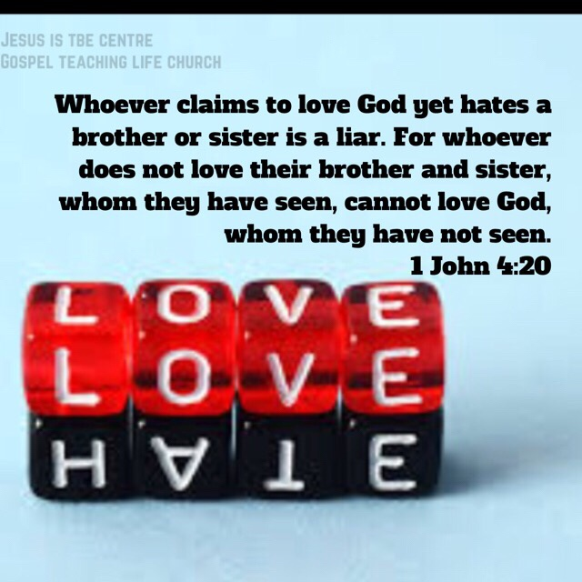 Whoever Claims To Love God Yet Hates A Brother Or Sister Is Liar For Does Not Their And Whom They Have Seen