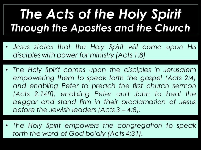 Holy Spirit And The Church Jesus Is The Centre Gospel Teaching
